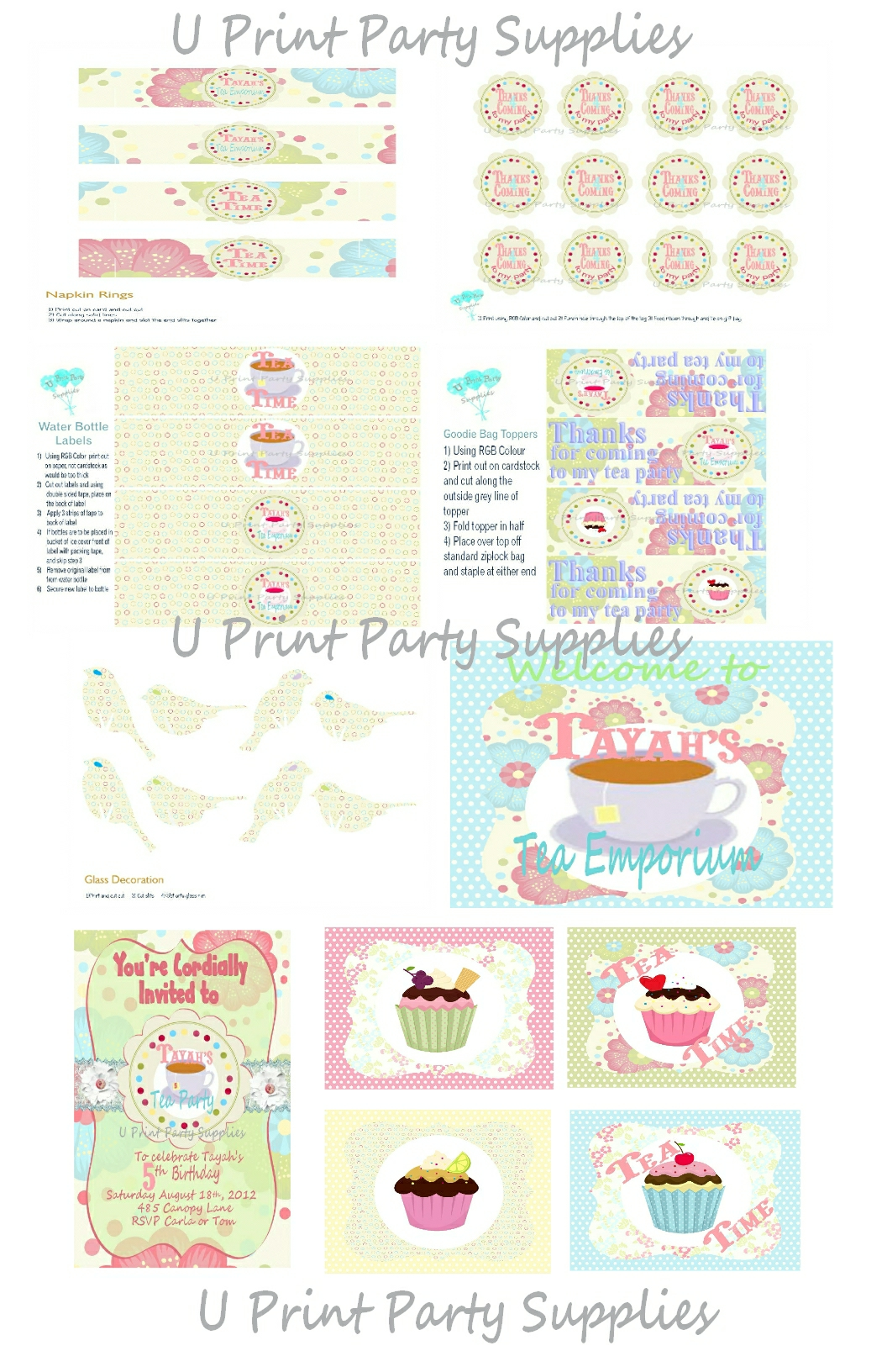 Tea Party 101…tea party ideas from start to finish… | U Print ...