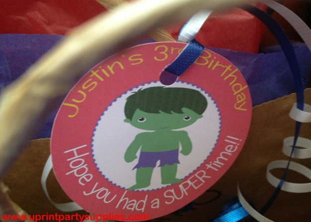 Superhero Party Tags
