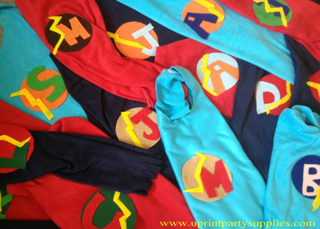 Superhero Party Capes 1 5x7