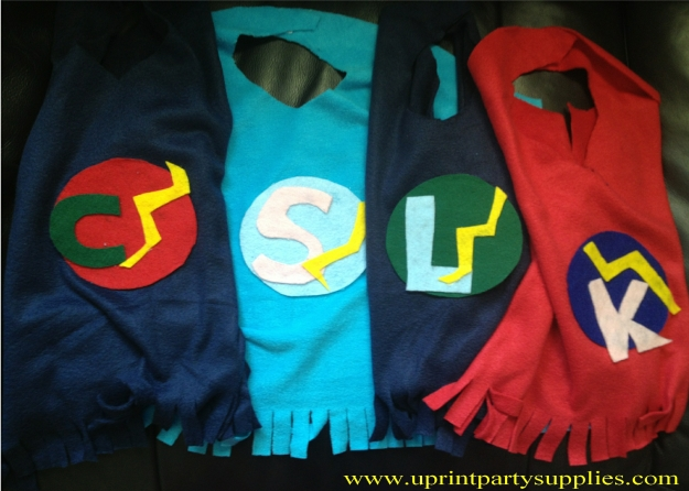 Superhero Party Capes 2 5x7