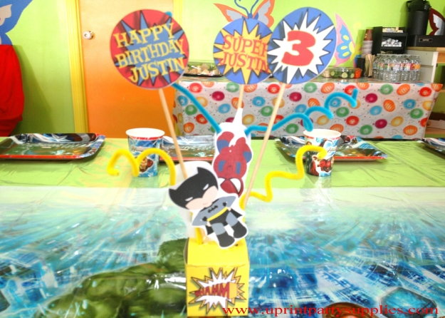 Superhero Party Centerpiece 1 5x7