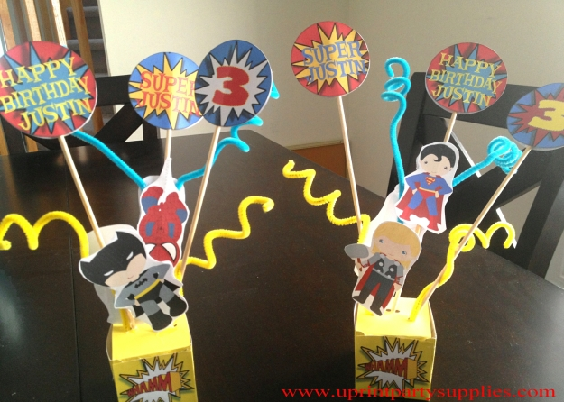 Superhero Party Centerpiece 2 5x7