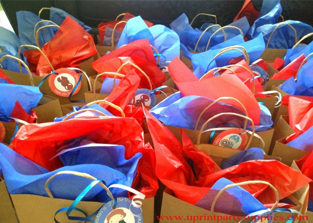 Superhero Party Gift Bags and tags 5x7