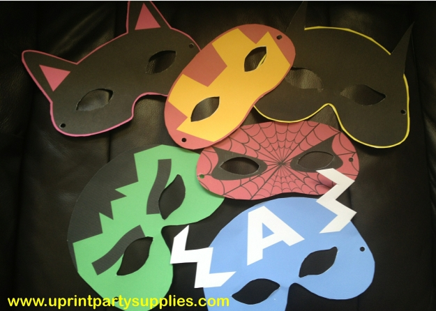 superhero party masks 1