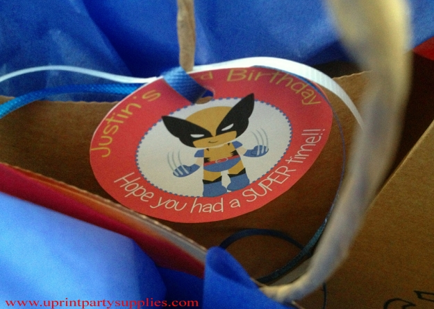 Superhero Party Tags 2 5x7