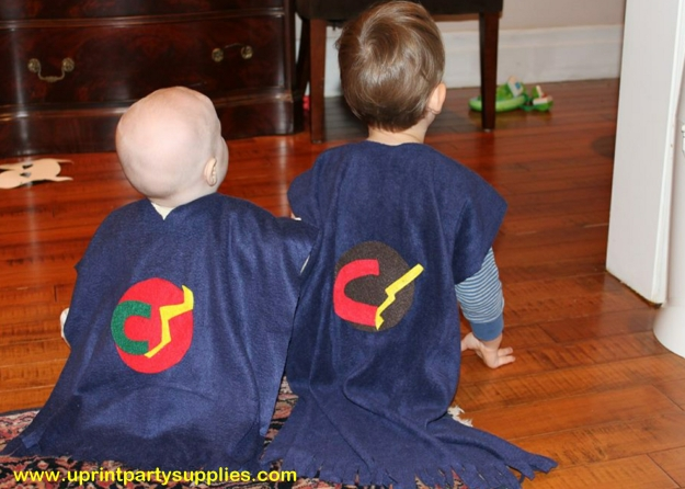 Superhero Party Capes 10 5x7