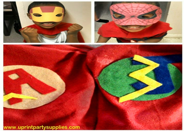 Superhero Party Capes 11 5x7